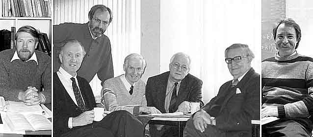 Five main researchers with Eysenck and Nias